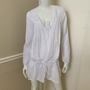 Velvet Graham Spencer NEW White Cotton Tunic Dress
